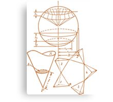 Vintage Math Diagrams - sepia Canvas Print