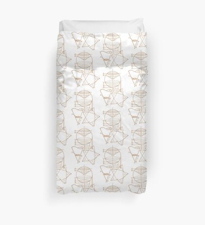 Vintage Math Diagrams - sepia Duvet Cover