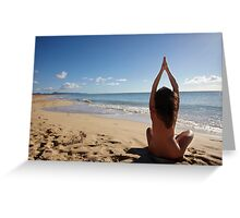 Yoga on the beach Greeting Card