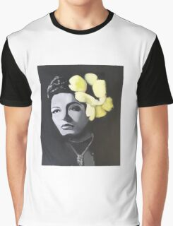 Billie Holiday portrait painting Graphic T-Shirt