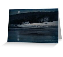 Moonset Sheepscot River Greeting Card