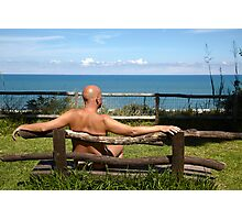 Nude on the bench Photographic Print