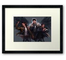 Sam, Castiel & Dean Supernatural Framed Print