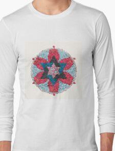 Healing Mandala in Pastel Colors Long Sleeve T-Shirt