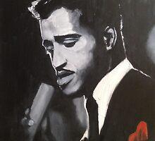 Sammy Davis Jr. Original portrait painting by William Wright