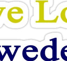 Live Love Sweden Sticker