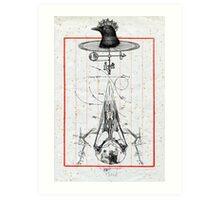 CUERVO CABEZA DE MAQUINA (machine head crow) Art Print