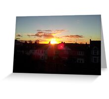 Suburb Sunset Greeting Card