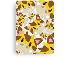 Cute Cartoon Giraffe Pattern Canvas Print