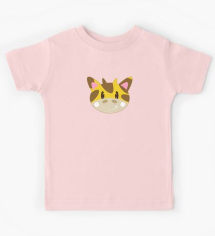 Cute Cartoon Giraffe Pattern Kids Tee