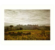 Historic fortified city of carcassonne (France) Art Print