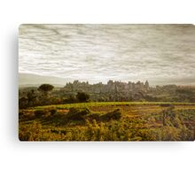 Historic fortified city of carcassonne (France) Metal Print