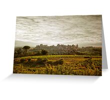 Historic fortified city of carcassonne (France) Greeting Card