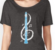Musical Clarinet Treble Clef Women's Relaxed Fit T-Shirt