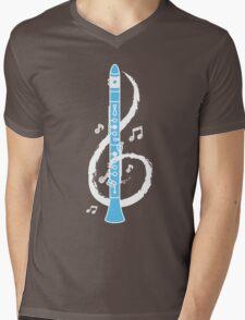 Musical Clarinet Treble Clef Mens V-Neck T-Shirt