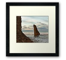 Cullen Kings at high tide. Framed Print