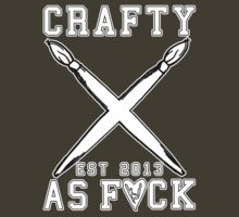 Crafty As Fuck College Tee by Kevin James Harte