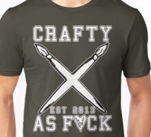 Crafty As Fuck College Tee Unisex T-Shirt