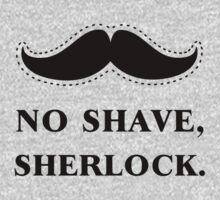 No Shave, Sherlock One Piece - Long Sleeve