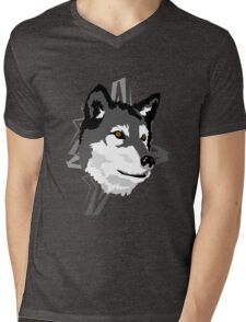 Wolf in the Woods Mens V-Neck T-Shirt