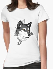 Wolf in the Woods Womens Fitted T-Shirt