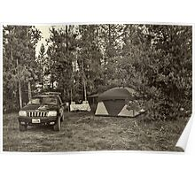 Base Camp at Moose Lake Poster