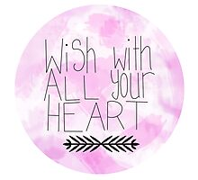 Wish With All Your Heart Photographic Print