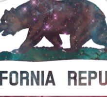 California Flag Nebula Sticker