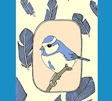 blue bird phone case by KillerCupcake