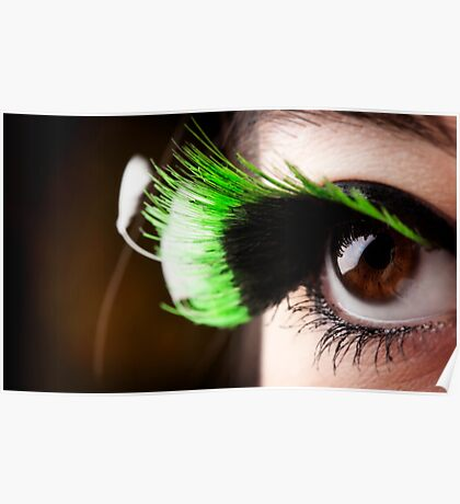 Green Lashes Poster