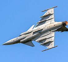 SAAB JAS 39C Gripen 9240 in a vertical bank by Colin Smedley