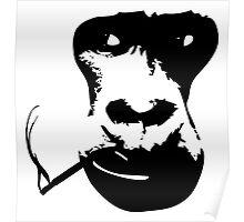 Smoking Gorilla Poster