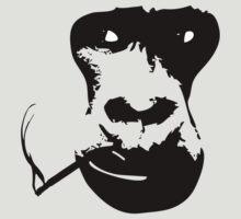 Smoking Gorilla by SeijiArt