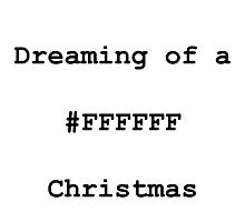 White (#FFFFFF) Christmas Photographic Print