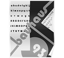 Bauhaus 93 Black & White Poster