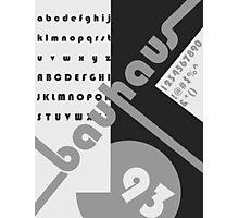 Bauhaus 93 Black & White Photographic Print