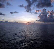 At Sea -- A Sunrise Begins by Cora Wandel