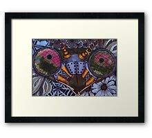 Praying Mantis, Steampunk Style Framed Print