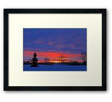 Winter Sunrise on the Prairies Framed Print