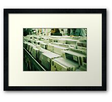 records (no.2) Framed Print