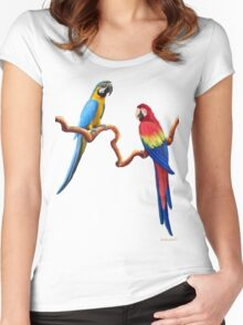 MACAW TROPICAL PARROTS Women's Fitted Scoop T-Shirt