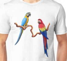 MACAW TROPICAL PARROTS Unisex T-Shirt