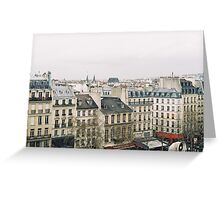 parisian rooftops Greeting Card