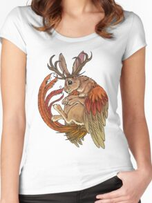 wolpertinger Women's Fitted Scoop T-Shirt