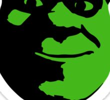 Check Yourself Before You Shrek Yourself (Black and Green) Sticker