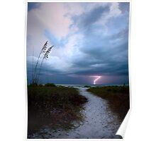 Lone Lightning Strike Poster