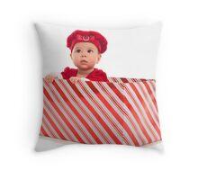 Santa Surprise Throw Pillow
