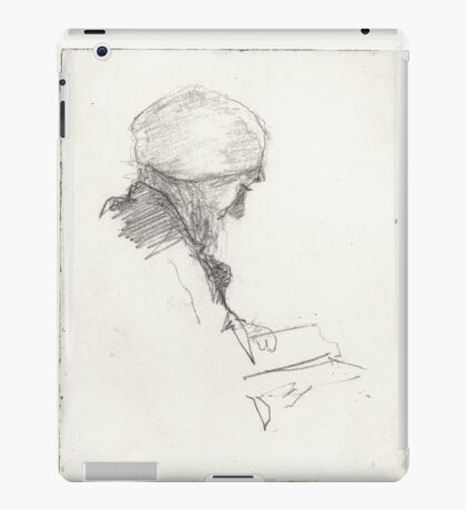 A Person Reading a Book iPad Case/Skin
