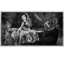 The Lady of Shalott with Lancelot as a Gargoyle. Photographic Print