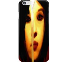 Girl with a candle iPhone Case/Skin